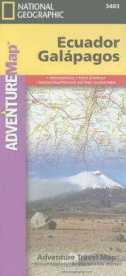 National Geographic Adventure Map Ecuador and Galapagos